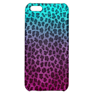 Purple Pink Green Cheetah Print Cover For iPhone 5C