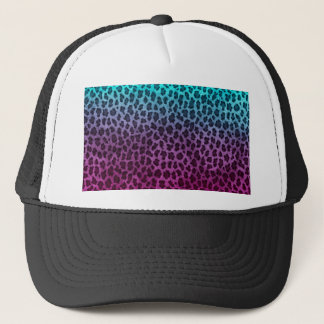 Purple Pink Green Cheetah Print Trucker Hat