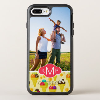 Purple & Pink Ice Cream Cones | Add Your Photo OtterBox Symmetry iPhone 8 Plus/7 Plus Case