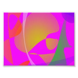 Purple Pink Irregular Forms Photo Print