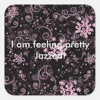 Purple & Pink Jazz Square Stickers