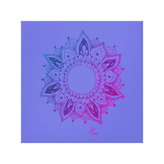 Purple Pink Mandala Graphic Art Canvas Print