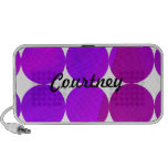Purple Pink Mod Dots Doodle Mini Speakers