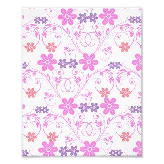 Purple & Pink Modern Floral Art Photo