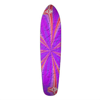 Purple & Pink modern pattern Custom Skate Board