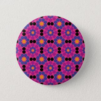 Purple Pink Mosaic 6 Cm Round Badge