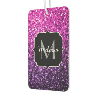 Purple Pink Ombre glitter sparkles Monogram