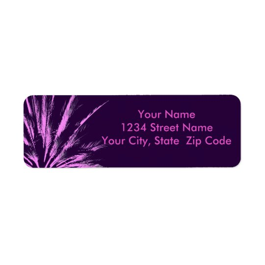 Purple Pink Palm Tree