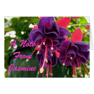 Purple Pink Passion Note Card