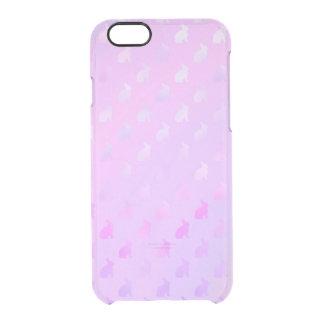 Purple Pink Pastel Bunny Background Faux Foil Clear iPhone 6/6S Case