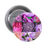 Purple / Pink Photo Collage Badges