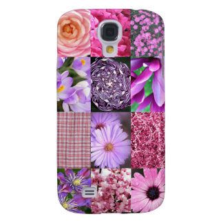 Purple Pink Photo Collage Samsung Galaxy S4 Covers