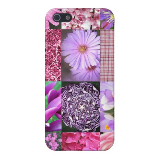 Purple / Pink Photo Collage iPhone 5 Covers