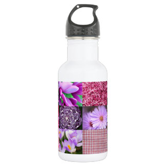 Purple Pink Photography Collage 532 Ml Water Bottle