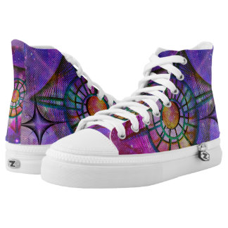 Purple Pink space abstract design High Tops