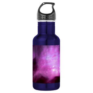 Purple pink stars in space 532 ml water bottle