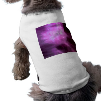 Purple pink stars in space shirt