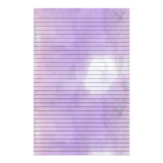 Purple Pink Swirl Stationery w/ Optional Lines