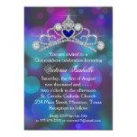 Purple Pink Teal Blue Quinceanera Personalised Invitation