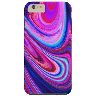 Purple pink teal swirl Cool art phone case