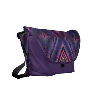 purple pink tile pattern courier bag