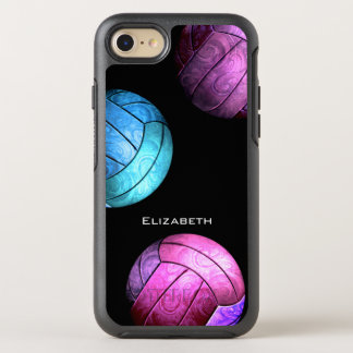 purple pink turquois women's volleyball OtterBox symmetry iPhone 8/7 case