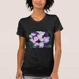 purple pink wedding flowers t-shirts