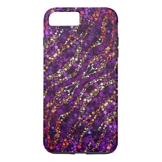 Purple Pink Zebra Bling iPhone 7 Plus Case
