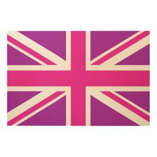 Purple & Pinks Union Jack/Flag Wood Wall Art