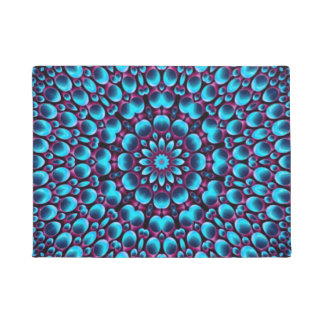 Purple Piper Colorful Door Mat