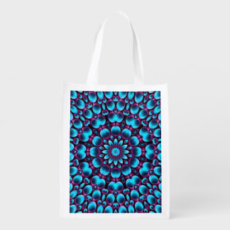Purple Piper Colorful Reusable Bags Market Totes