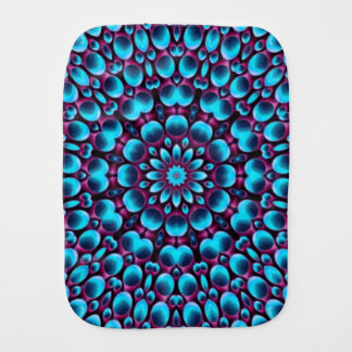 Purple Piper Kaleidoscope Burp Cloth
