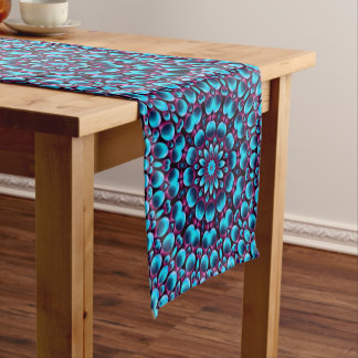 Purple Piper  Kaleidoscope Colorful Table Runner