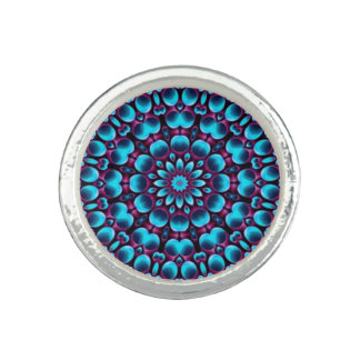 Purple Piper Kaleidoscope   Custom Rings