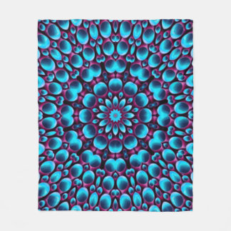 Purple Piper Kaleidoscope  Fleece Blankets, 3 size