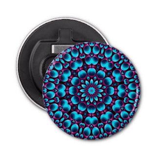 Purple Piper Kaleidoscope  Magnetic Bottle Openers