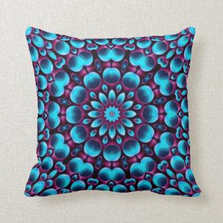 Purple Piper Kaleidoscope Pattern Throw Pillows