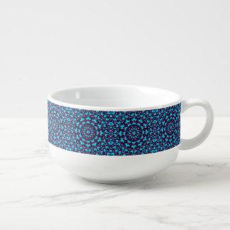 Purple Piper Kaleidoscope  Soup Mugs