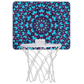 Purple Piper Vintage Kaleidoscope Basketball Hoops