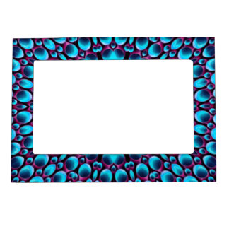 Purple Piper Vintage Kaleidoscope  Magnetic Frames