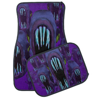 Purple Piranha Car Mats Full Set (set of 4) Floor Mat