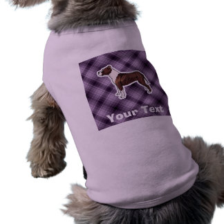 Purple Pitbull Sleeveless Dog Shirt