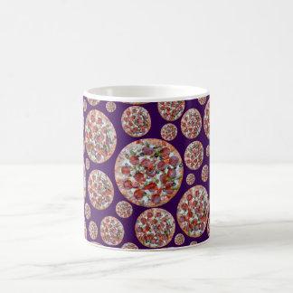 Purple pizza pie coffee mug