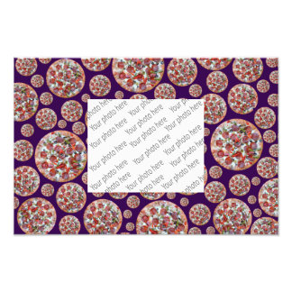 Purple pizza pie photo print