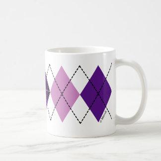 Purple Plaid Argyle Mugs