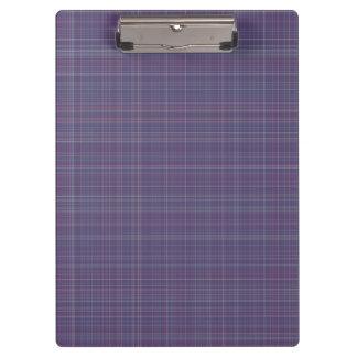 Purple Plaid Clipboard