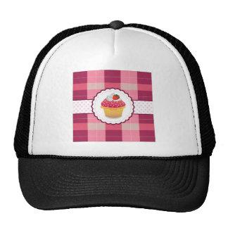 Purple Plaid cupcake Fun Trucker Hat
