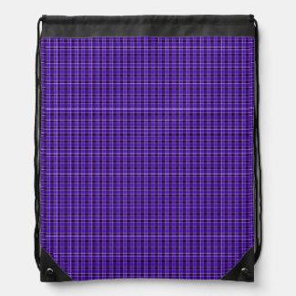 Purple Plaid Drawstring Backpack