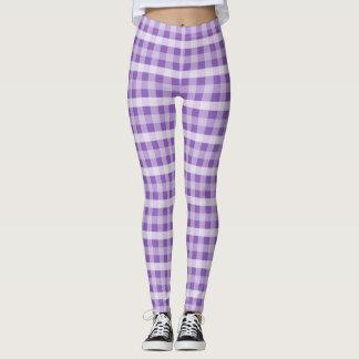 Purple Plaid Leggings