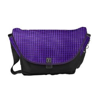 Purple Plaid Messenger Bag